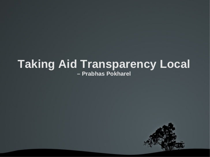 Radio/SMS and Aid Transparency & Accountability -- Presentation for #Nepalaid #IATI audience