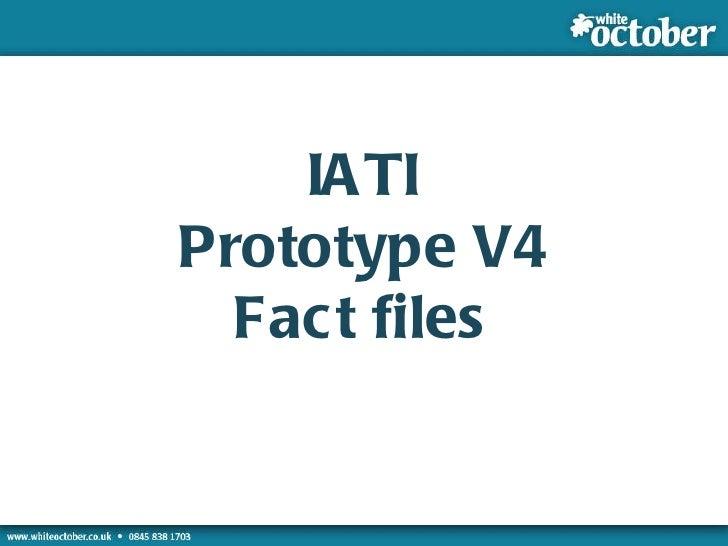 IATI Prototype Version 4 with Fact File