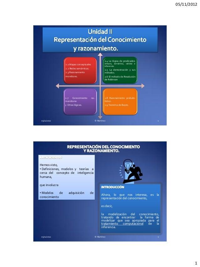 05/11/2012                                                          2.4 La lógica de predicados:                  2.1 Mapa...