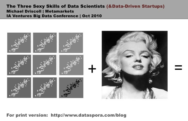 The Three Sexy Skills of Data Scientists (& Data-Driven Startups)<br />Michael Driscoll | Metamarkets<br />IA Ventures Big...