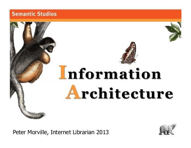 Peter Morville, Internet Librarian 2013  1