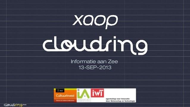 Informatie aan Zee 13-SEP-2013