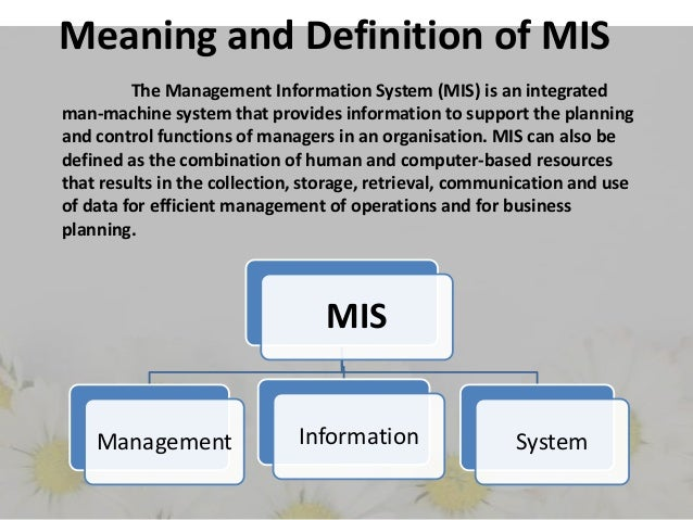 management accounting information system definition An accounting information system is the collection, storage and processing of financial and accounting data that is used by decision makers.