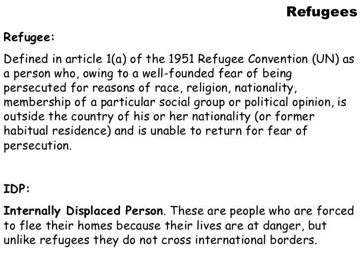 A history of refugees - UK Essays | UKEssays