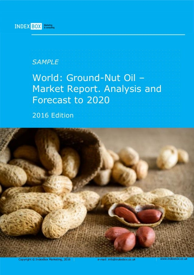 World: Ground-Nut Oil - Market Report. Analysis And ...