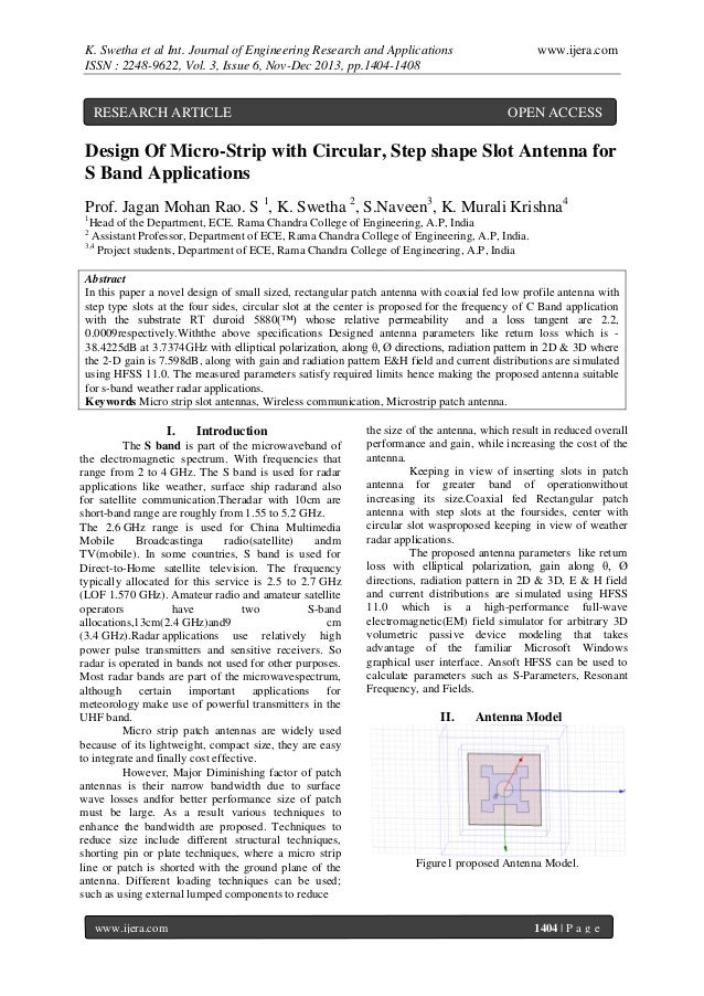 K. Swetha et al Int. Journal of Engineering Research and Applications ISSN : 2248-9622, Vol. 3, Issue 6, Nov-Dec 2013, pp....