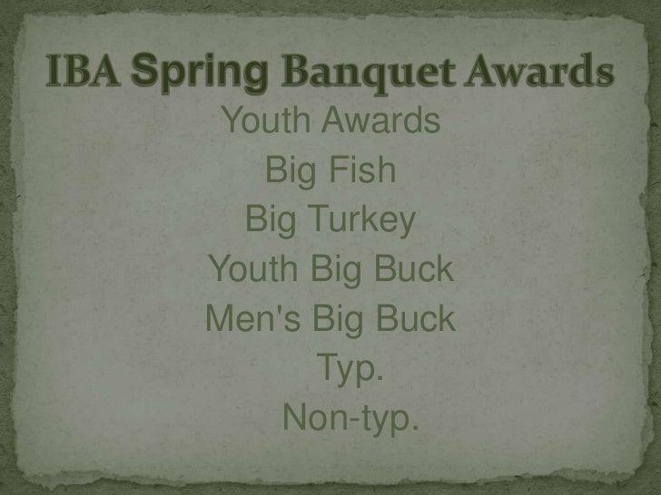 IBA Spring Banquet Awards 2011