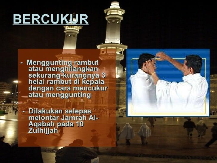 Ibadat Haji & Umrah Bercukur