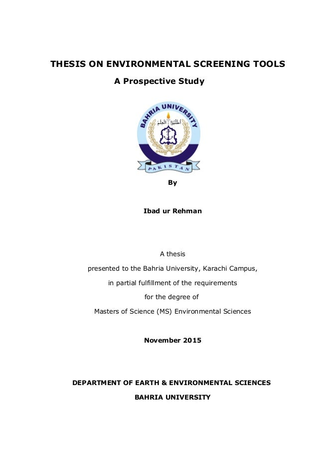 Environmental education thesis