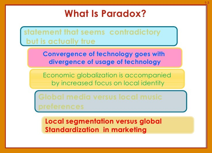 paradox technology Tech- nology and war is organized in a manner that obscures its ultimate argument while offering a theoretical approach, rooted in history, toward coping with the problems of war, through every page of the book van creveld is playing an intellectual game with his readers that uses paradox for purposes of wry amusement.