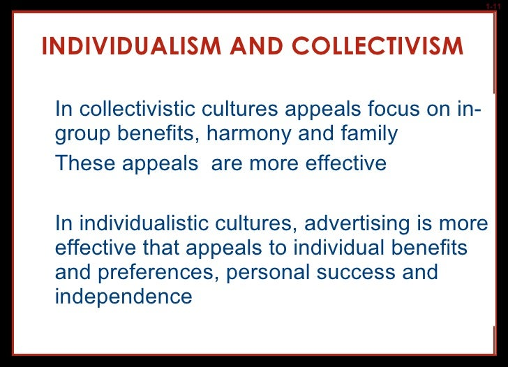 ethnocentrism individualistic cultures How individualist and collectivst organizational cultures influence work processes, outcomes, and cooperation by faye hartung a research paper submitted in.