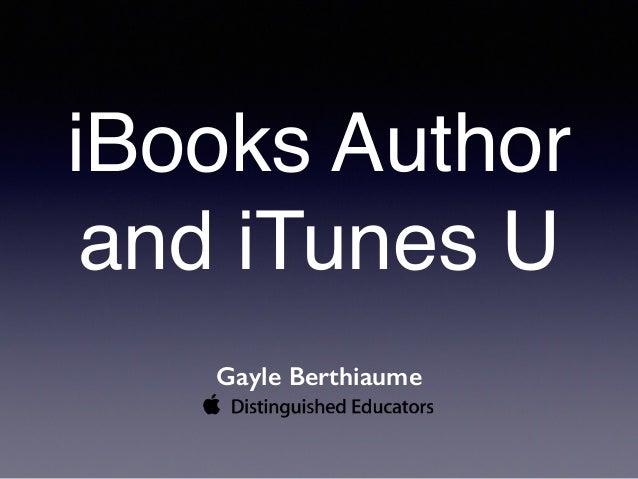 ibooks author presentation