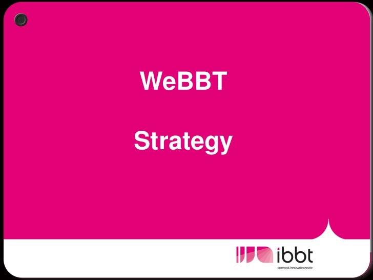 Wim De Waele - IBBT Strategy