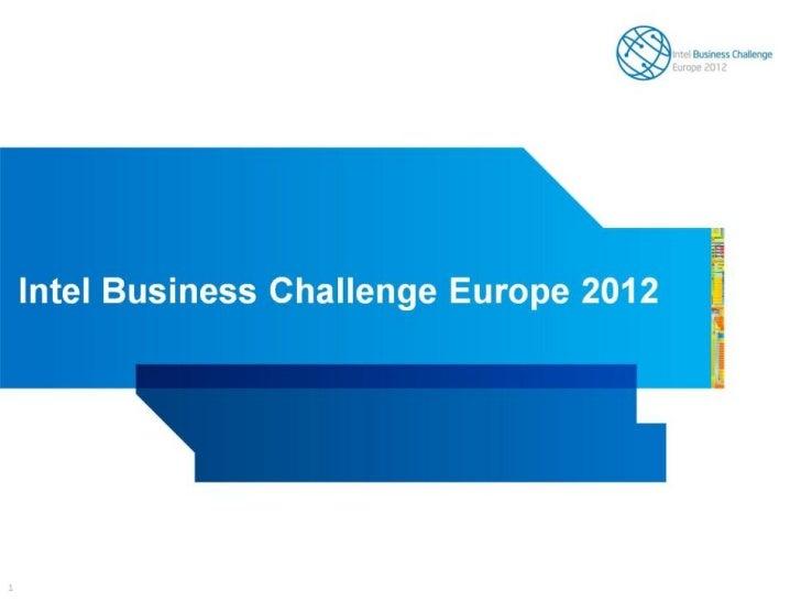 Intel Business Challenge Europe 2012