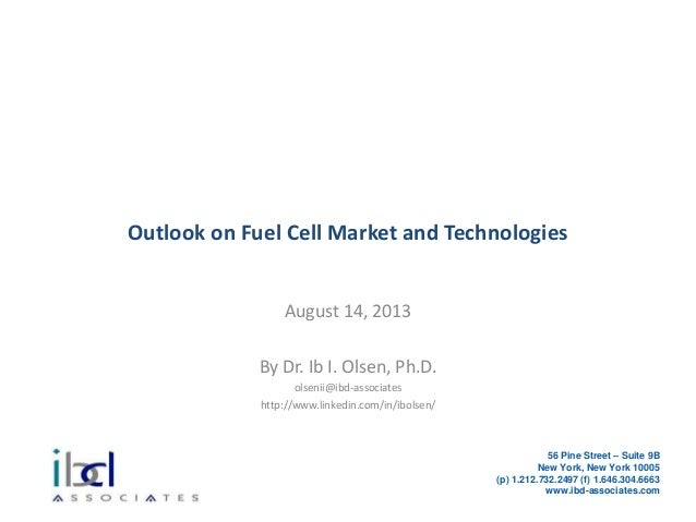 Outlook on Fuel Cell Market and Technologies
