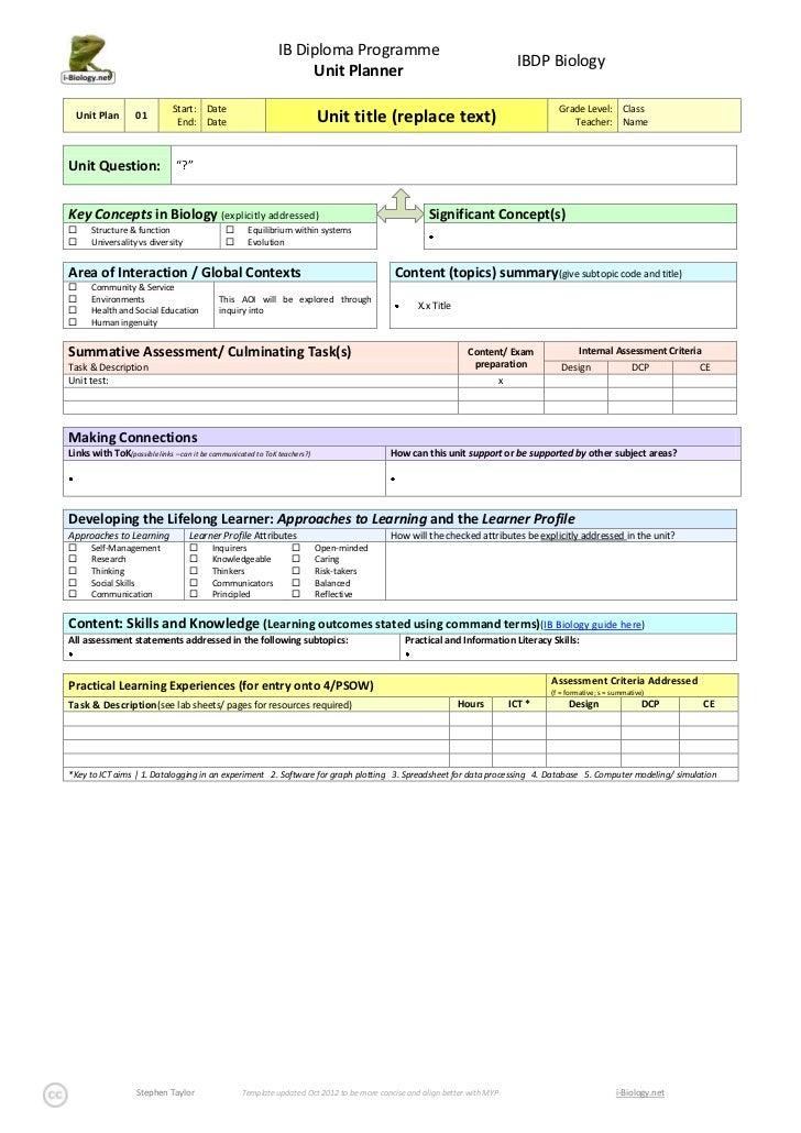 IBDP Bio Planner Template Oct 2012