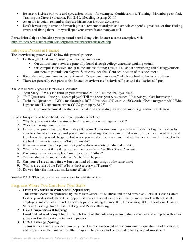 Resume bloomberg