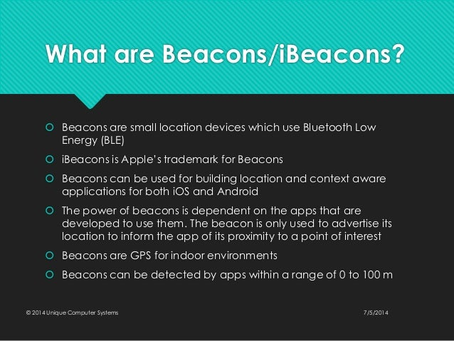 ble beacon technologies applications and revenues