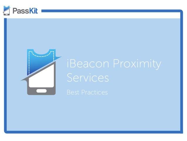 iBeacon Proximity Services Best Practices