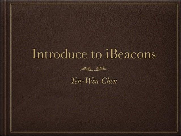 iBeacons 簡介