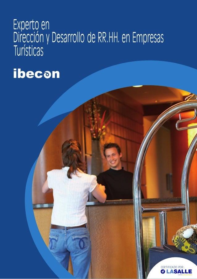 Ibecon - Curso de Experto en Dirección y Desarrollo de RR.HH. en Empresas Turísticas