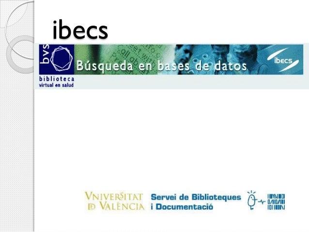 Ibecs 2013