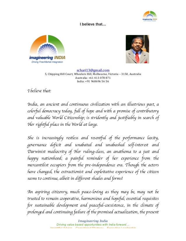Imagineering India Driving value based opportunities with India forward… Insightful Advice – Considered Strategy – Execu...