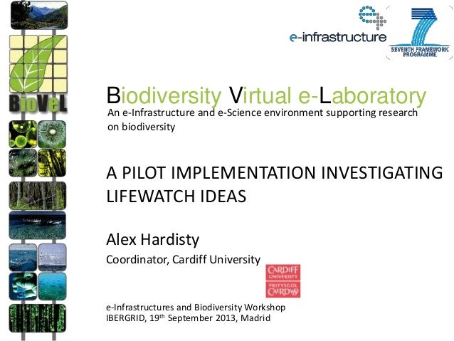 A PILOT IMPLEMENTATION INVESTIGATING LIFEWATCH IDEAS Alex Hardisty Coordinator, Cardiff University e-Infrastructures and B...