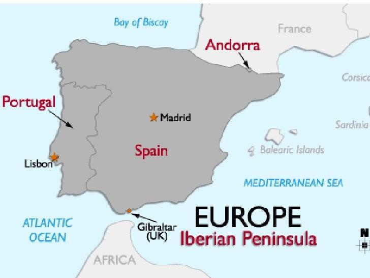 Где находится на карте пиренейский полуостров