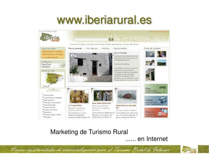 www.iberiarural.es     Marketing de Turismo Rural                          ...... en Internet