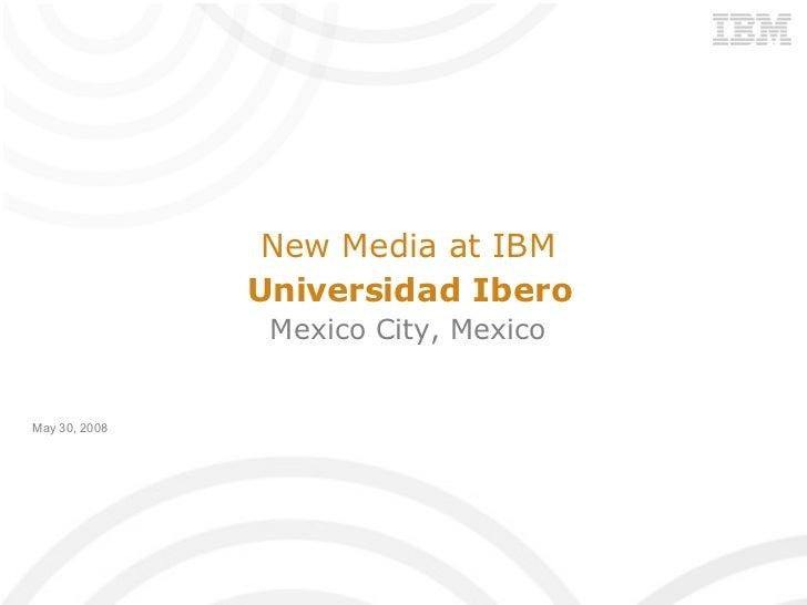 Social Media and Web 2.0 at IBM