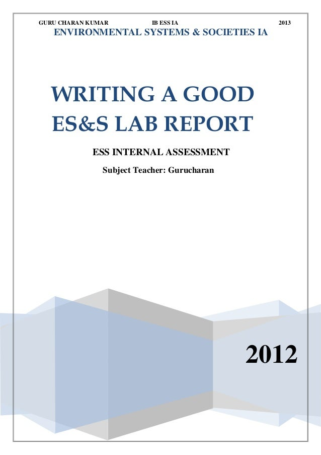 good lab report How to write a good scientific or laboratory report in this report template we give some notes on how to write a good lab report we observe that a good.