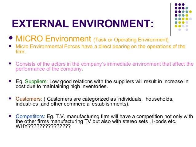 Disney internal and external environments