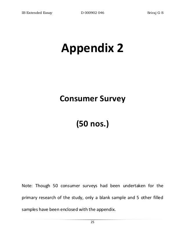 Appendix i essay example | Custom paper Service - vecourseworkznax ...
