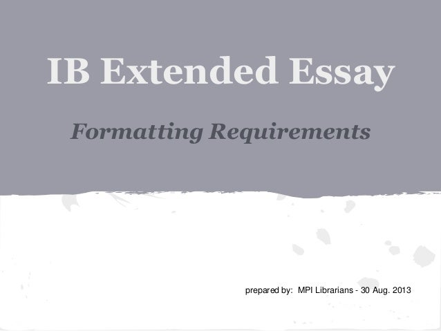 ib extended essay abstract requirements