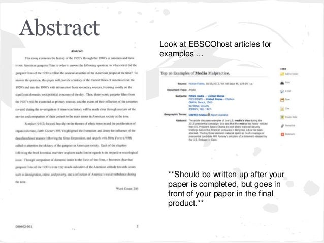Practical Abstract Examples