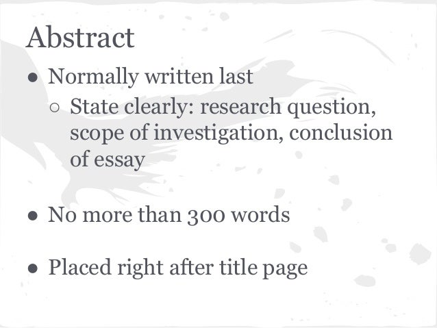 english b extended essay