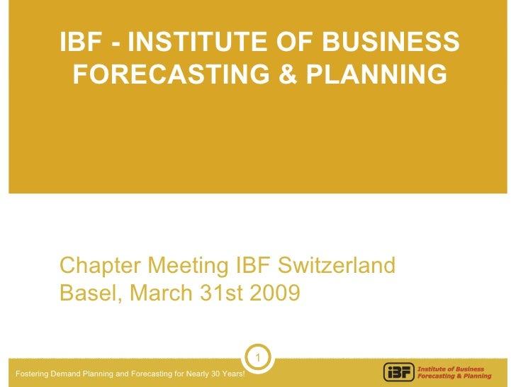 IBFChapter Presentation Crisis Forecasting