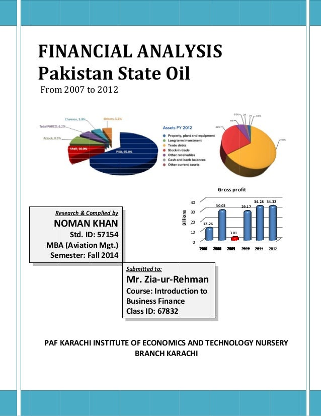 financial ratio analysis pakistan state oil Pakistan state oil company limited (pso) is pakistan's largest company having  an  professional management scanned the environment to analyze the.