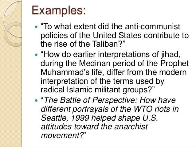 ib history essay questions