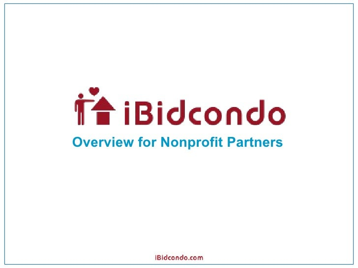 iBidcondo Non-Profit Partners Overview