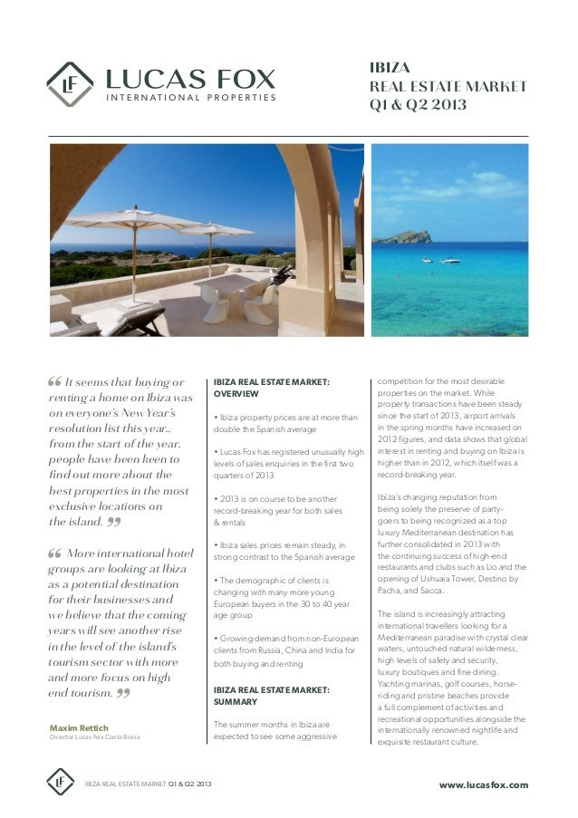 Ibiza Real Estate market report Q1-Q2 2013