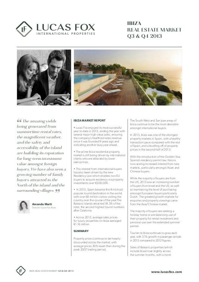 Ibiza Real Estate market Report Q3-Q4 2013