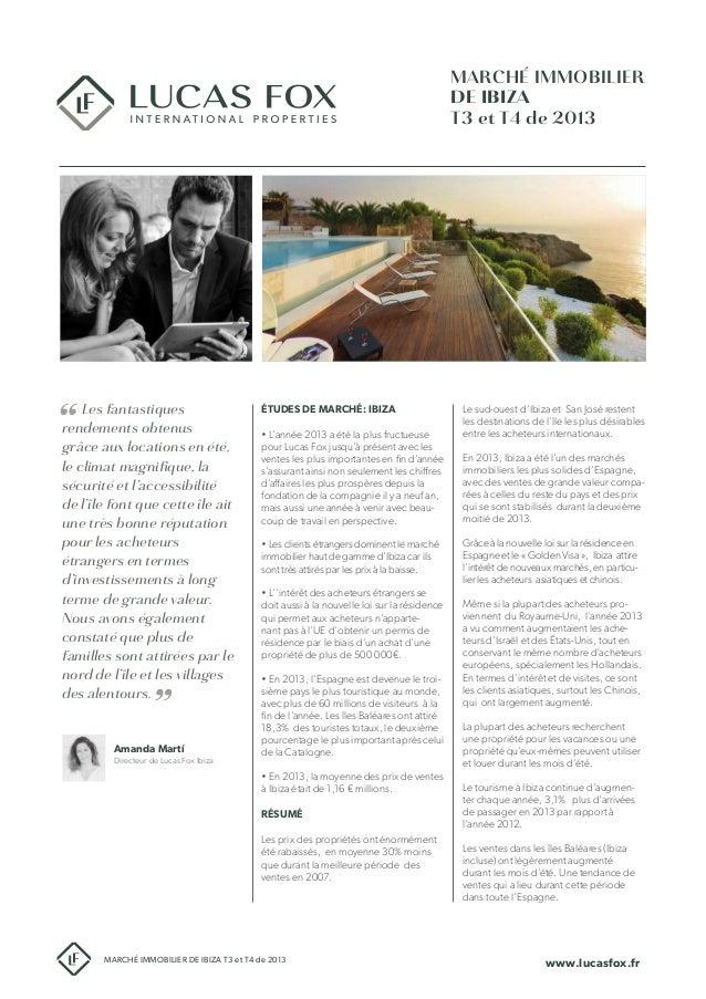 Étude de marché immobilier d'Ibiza T3-T4 de 2014