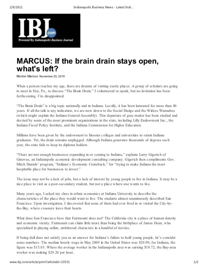 Ibj   morton marcus - if the brain drain stays open what is left - 11-20-10