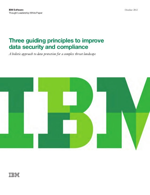 3 guiding priciples to improve data security