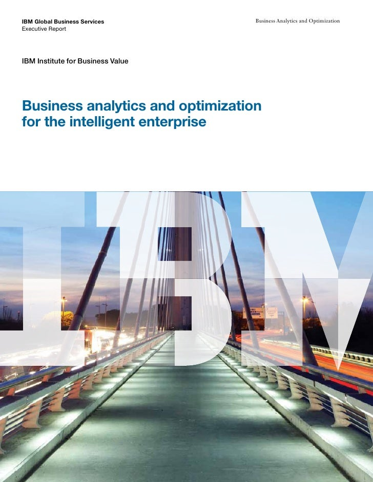 IBM Global Business Services       Business Analytics and Optimization Executive Report     IBM Institute for Business Val...