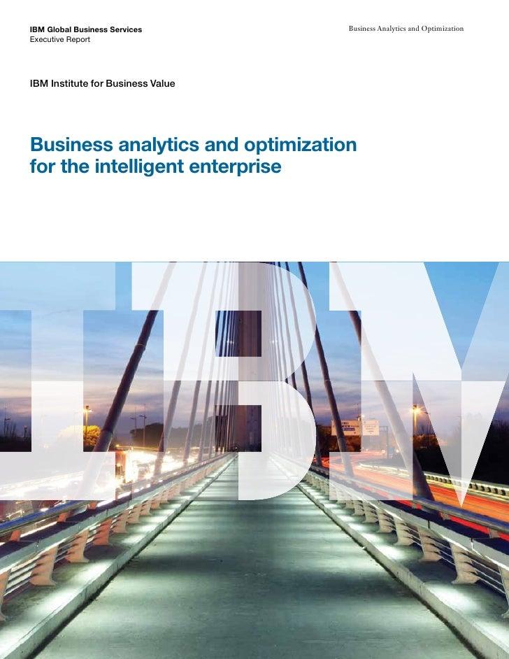 IBM BAO For The Intelligent Enterprise
