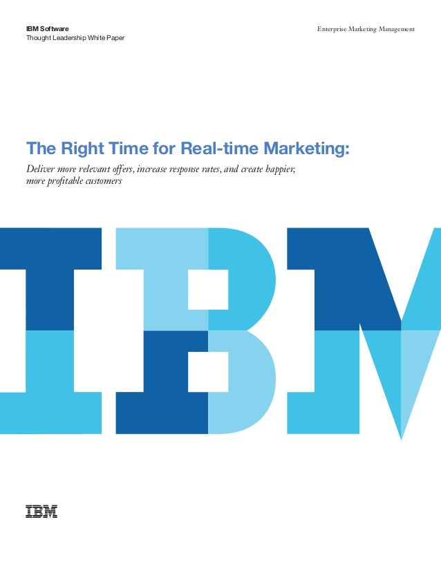 IBM Software                                                                 Enterprise Marketing ManagementThought Leader...