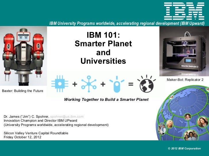 Ibm 101 smarter planet and universities 20121011 v1